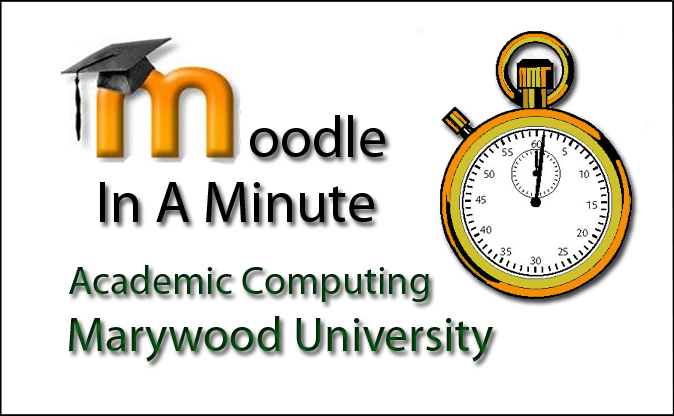 Moodle in a Minute Web Icon