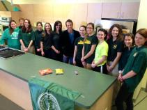 Nutrition Students withe Ryan Leckey of WNEP