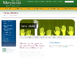 campus ministry landing page