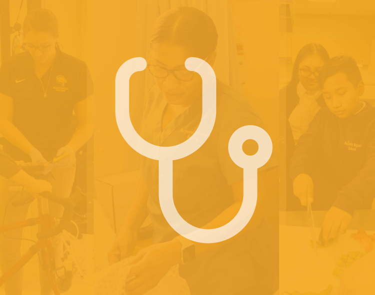 healthcare camp stethoscope icon and screen image