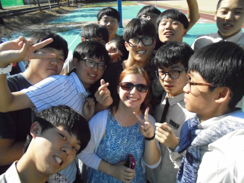 Rikki and Korean students