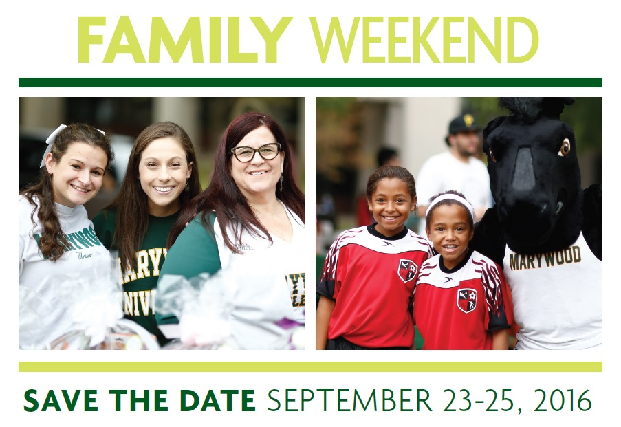 Family Weekend save the date pic