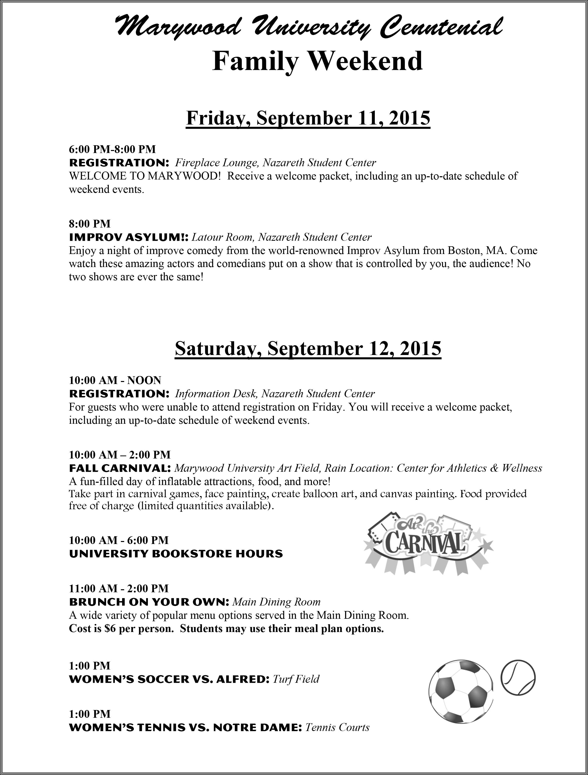 Family Weekend Schedule 2015-1