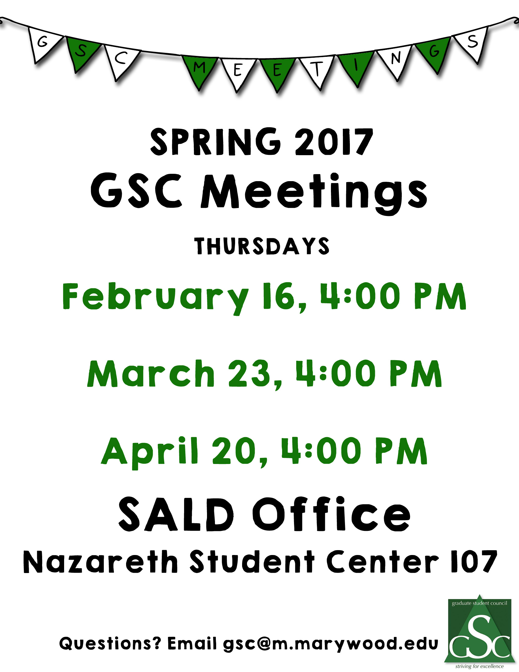 GSC Meetings - Spring 2017
