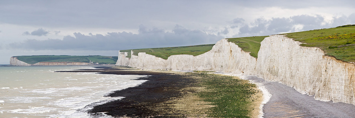 The Seven Sisters, along the East Sussex coast in England