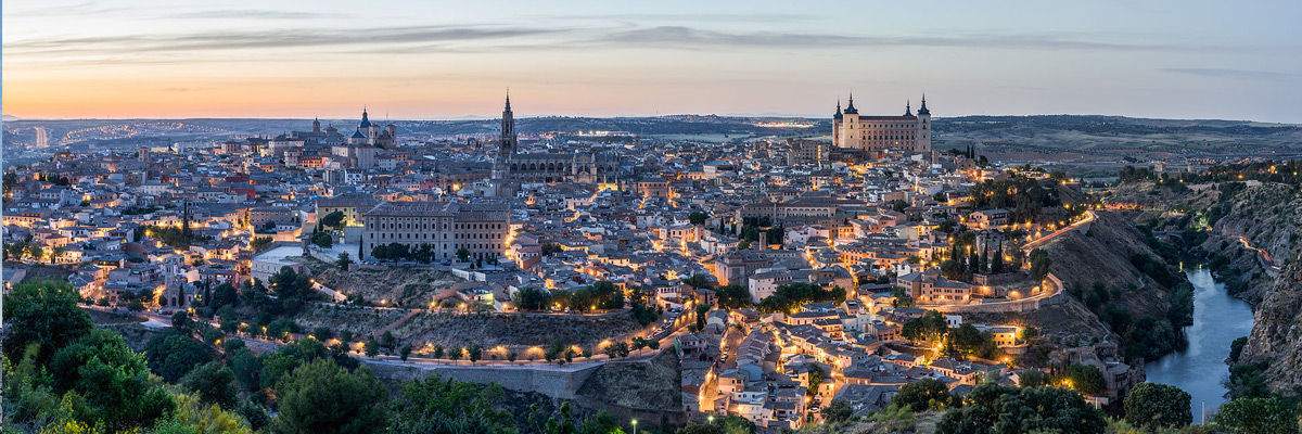 Toledo, Spain, as seen from Parador Hotel.